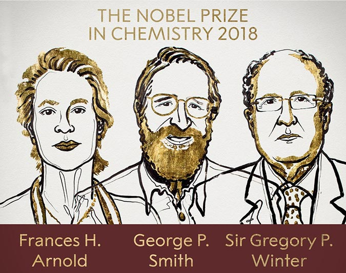 Penelitian Frances Arnold, George Smith and Sir Gregory Winter Share 2018 Nobel Prize in Chemistry