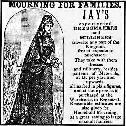 19th-century mourning clothes