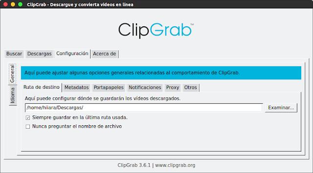 Configuración de ClipGrab - El Blog de HiiARA