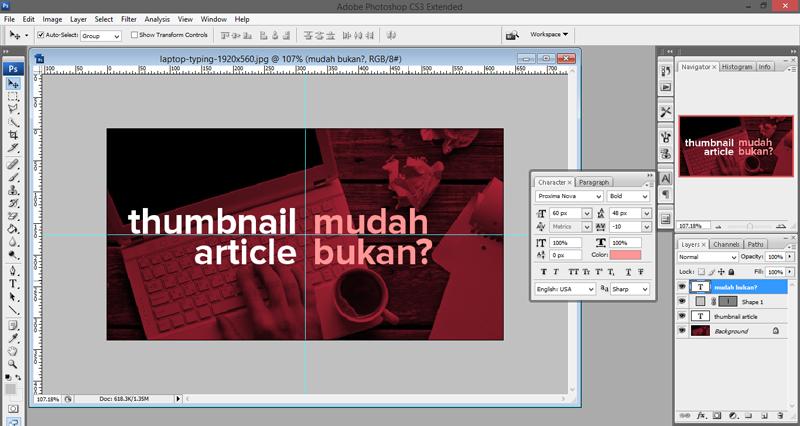Bung Frangki Bikin Gambar (thumbnail) Pakai Apa?