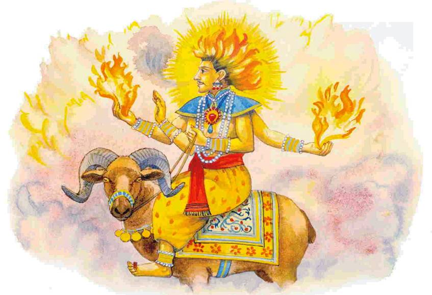 Prayer to Agni-- the Fire God - Translated to English
