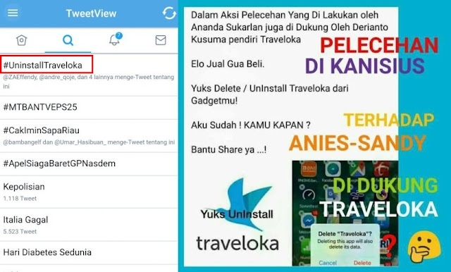 Hasil gambar untuk traveloka di boikot