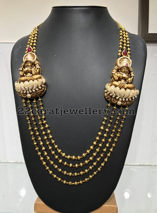 Four Layers Gold Balls Set with Lakshmi