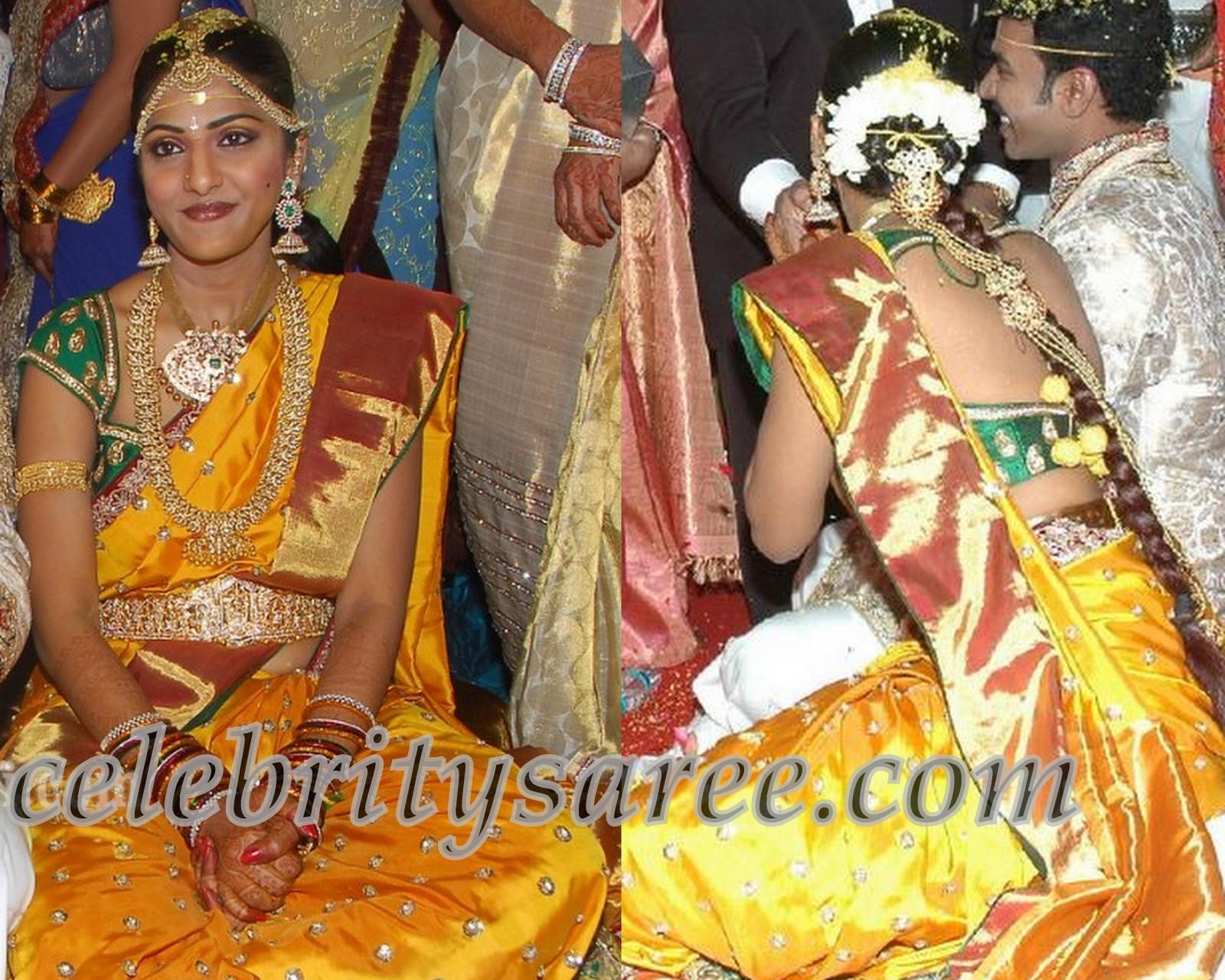 61bba10734819 Swapna Dutta Wedding Saree with Designer Blouse - Saree Blouse Patterns