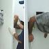 Preso tenta fugir de delegacia e fica entalado em buraco de 30cm da cela