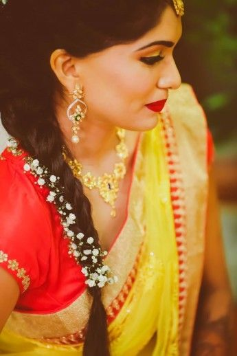 18 Indian Wedding Hairstyles With Jasmine Flowers Bling