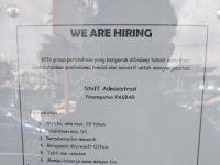 Lowongan kerja Staff Administrasi Ben Group
