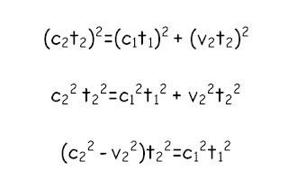 Calculo de la dilatacion del tiempo en Relatividad Especial