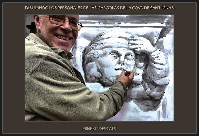 COVA-PINTURA-MANRESA-DIBUIX-GÀRGOLES-PERSONATGES-DIBUIXOS-SANT IGNASI-FOTOS-ARTISTA-PINTOR-ERNEST DESCALS-