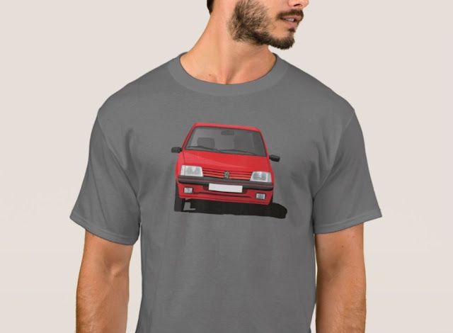 Peugeot 205 GTi cornering  t-shirt