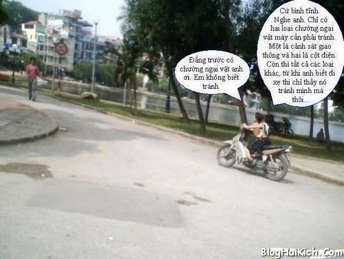 Ảnh vui nhộn về trẻ em đi xe máy