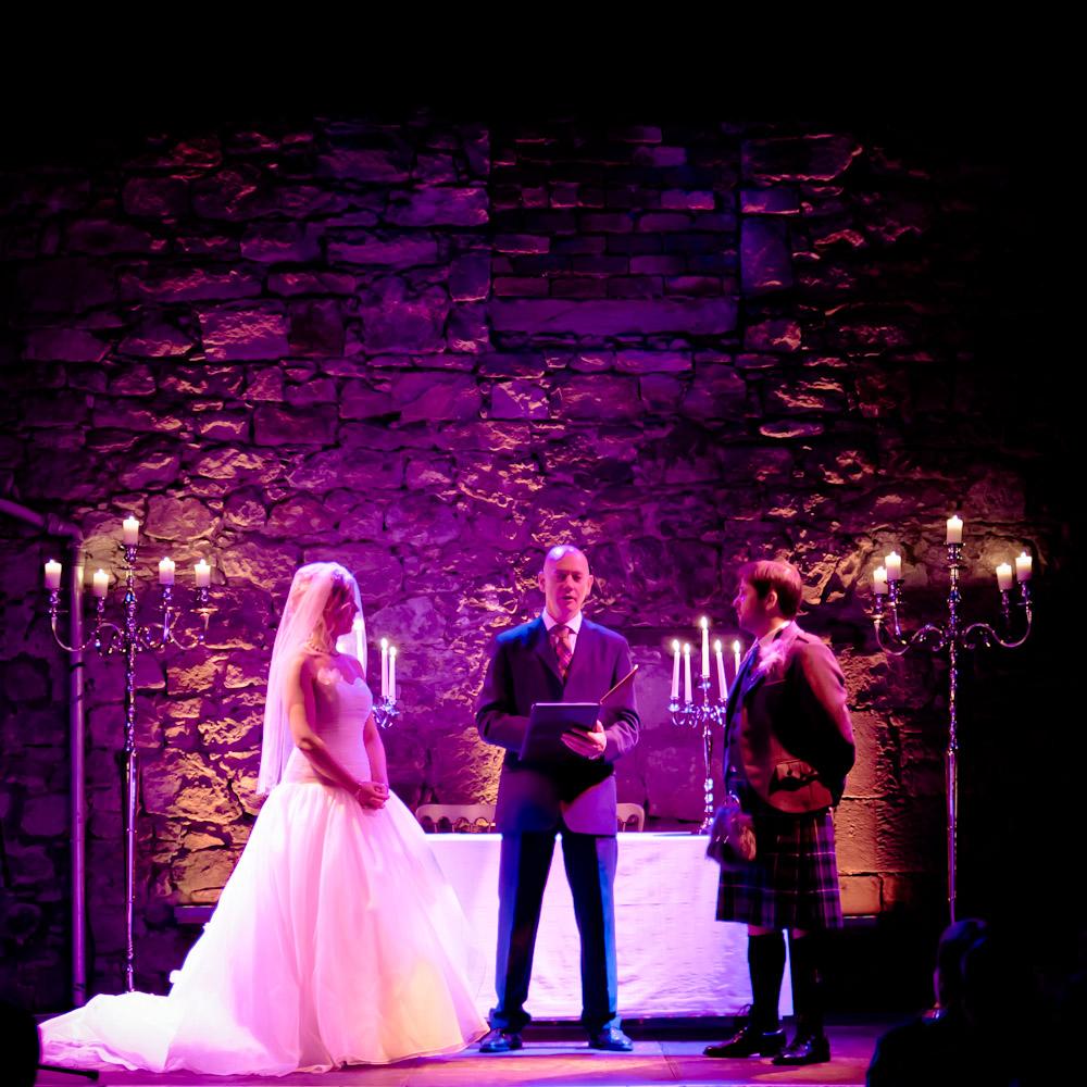 Adam Julia S Humanist Wedding At The Caves In Edinburgh