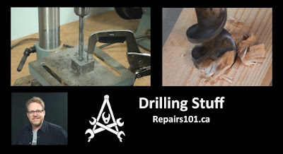 Title page for Repairs101 video, Drilling Stuff
