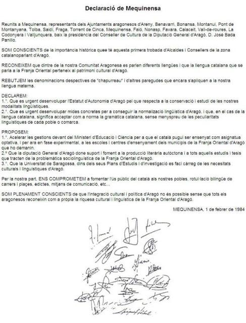 declaración Mequinenza