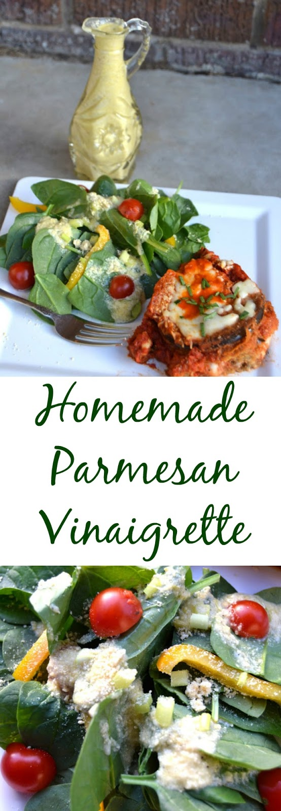This homemade parmesan vinaigrette will give housemade Italian dressings at restaurants a run for their money. It is full of flavor and is healthier than store bought dressings! www.nutritionistreviews.com