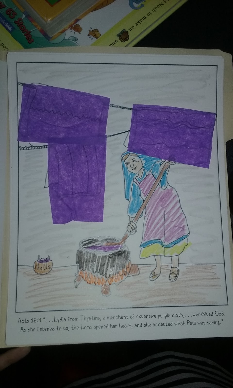 The Confident Journal Sunday School Craft Lydia The border=