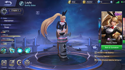 Layla Bunny Babe Remodel Mobile Legends