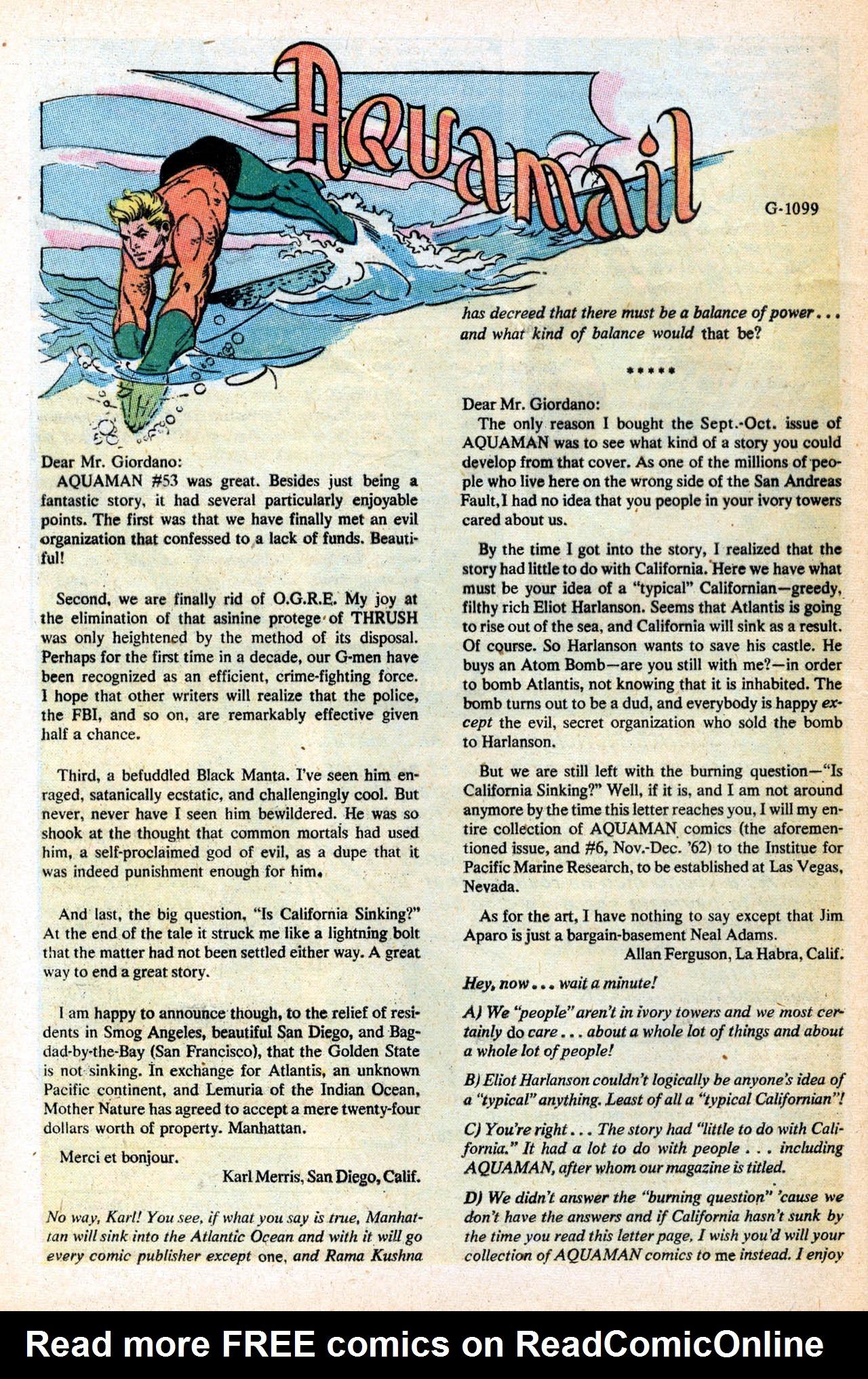 Read online Aquaman (1962) comic -  Issue #55 - 32