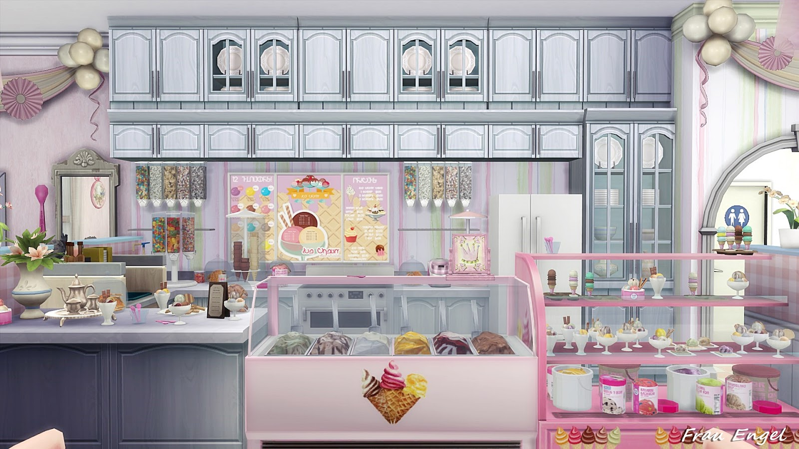 frau engel ts4 ice cream cafe. Black Bedroom Furniture Sets. Home Design Ideas