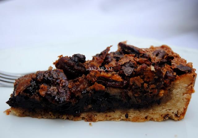 Tarta de Pecanas y Chocolate