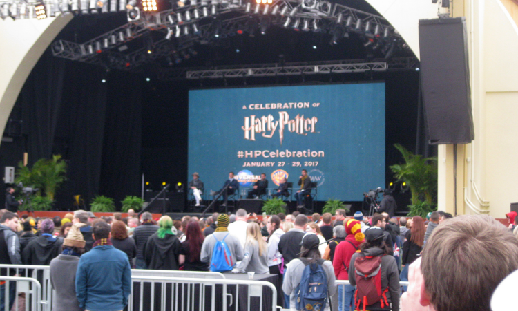 A Celebration of Harry Potter Cast Q&A Matthew Lewis Warwick Davis