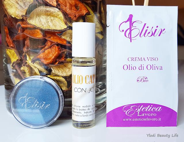 iolio capelli jojoba,  crema viso olio di oliva e ombretto setoso 48 denim estetica e lavoro jojoba estetica e lavoro
