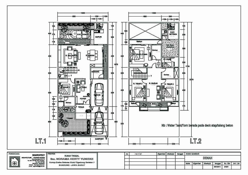 gambar denah rumah mewah 2 lantai 3