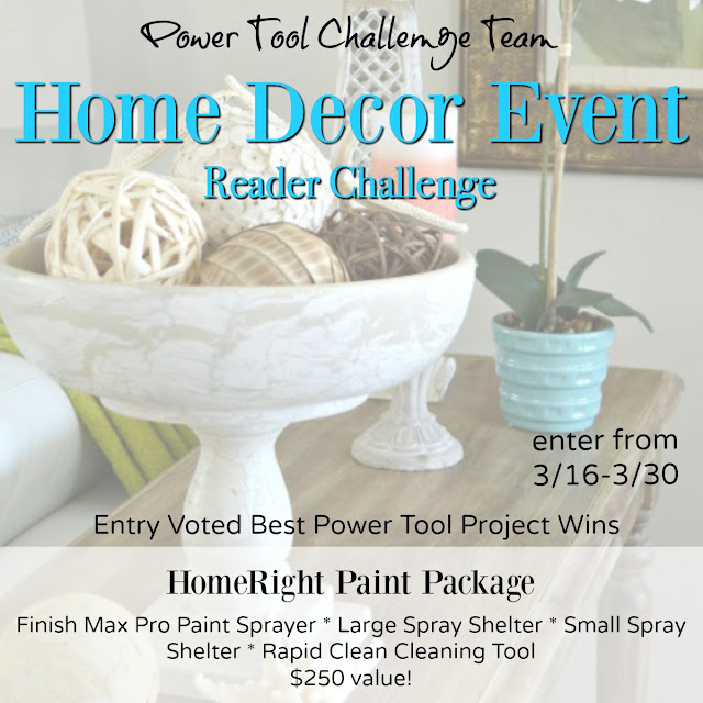 Home Decor Reader Challenge with Prize of a HomeRight Paint Package!!  Details at MyLove2Create