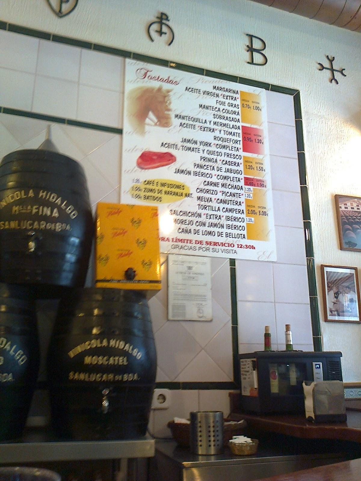 Dnde desayunar en Sevilla Desayunos en Bodegas el