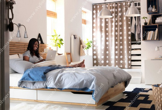 Bedroom design for your stylish house bed contain on under bed drawer for more storage space