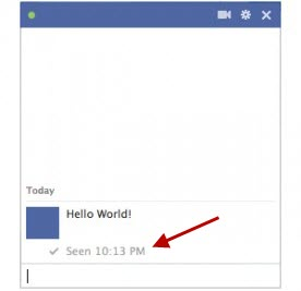 Disable Facebook seen message