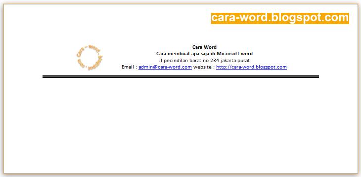Cara Print Amplop Word