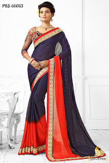 Pure-indian-chiffon-sarees-with-blouse-for-summer-for-girls-12