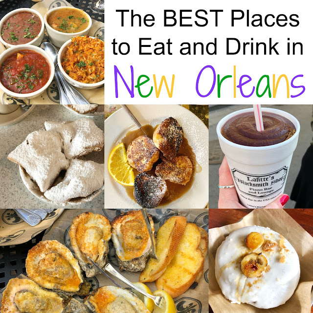 The BEST Places to Eat and Drink in New Orleans, Louisiana! Breakfast, Lunch, Dinner and Drinks! Look no further for some great NOLA restaurants!