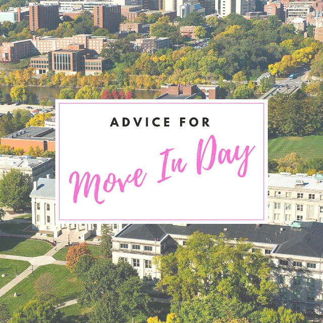 college advice for incoming freshmen college move in day