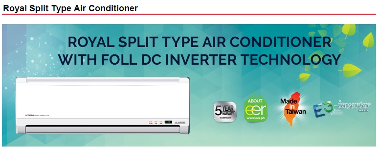 Aircare  Hitachi Royal Split Type Airconditioner