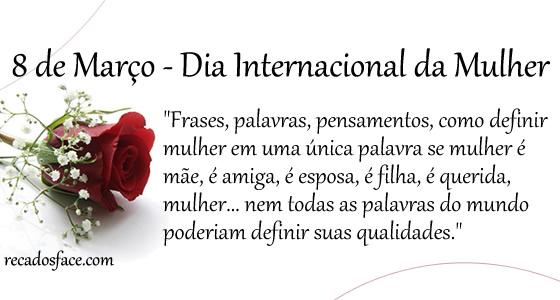 Cantinho De RoseArts: Feliz Dia Da Mulher