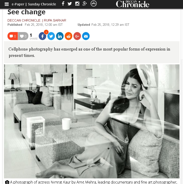 See Change - Mobile photography trends on Deccan Chronicle