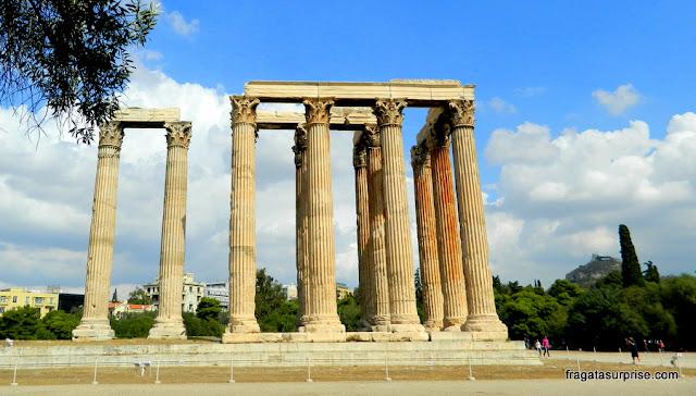 Templo de Zeus Olímpico, em Atenas