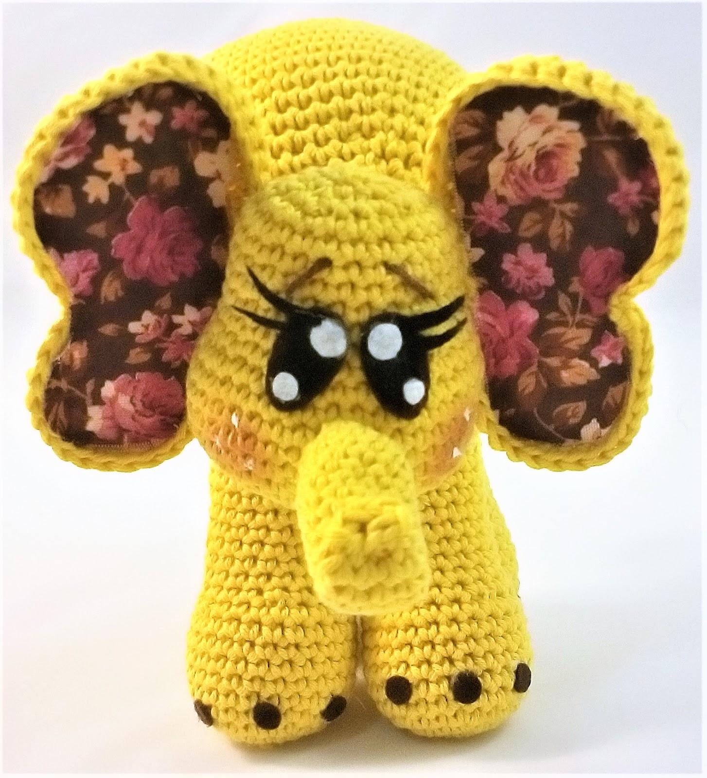 Elefante Amigurumi Crochet patrón PDF muñeca por LisaJestesDesigns ... | 1600x1454