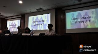 memoria del graffiti en el foro de Prácticas visuales, audiovisuales y mediáticas en torno al graffiti