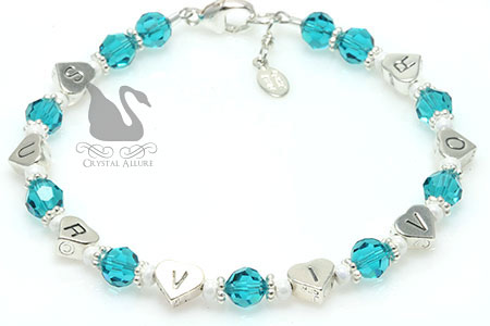Ovarian Cancer Awareness Survivor Heart Bracelet (B173-OC)