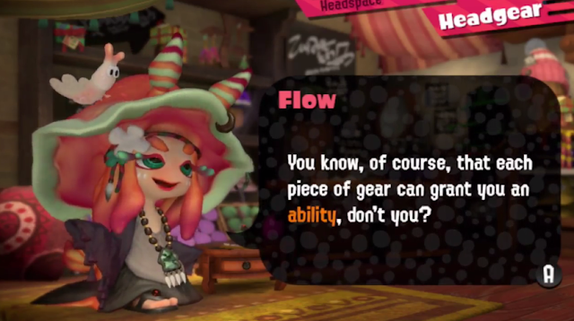 Splatoon 2 Flow headgear shop piece of gear ability Inkopolis Square Galleria sea slug