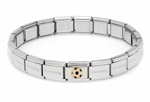 Football Italian Charm Bracelet
