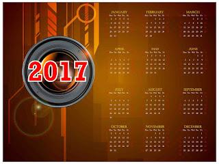 2017カレンダー無料テンプレート11