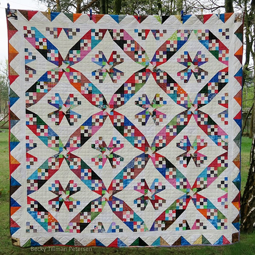 Blades of Color Quilt Free Pattern