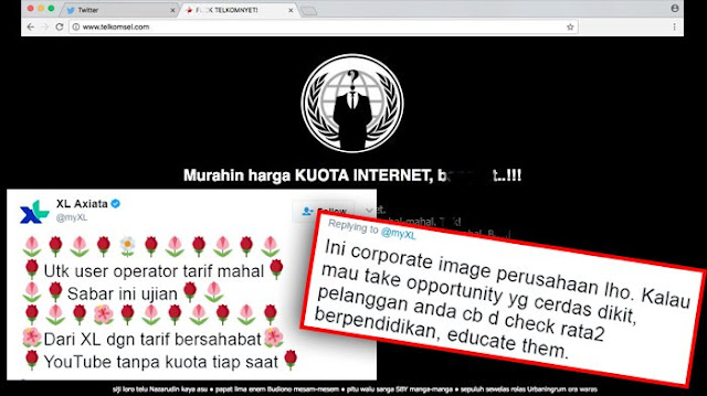 Website TELKOMSEL diretas oleh hacker