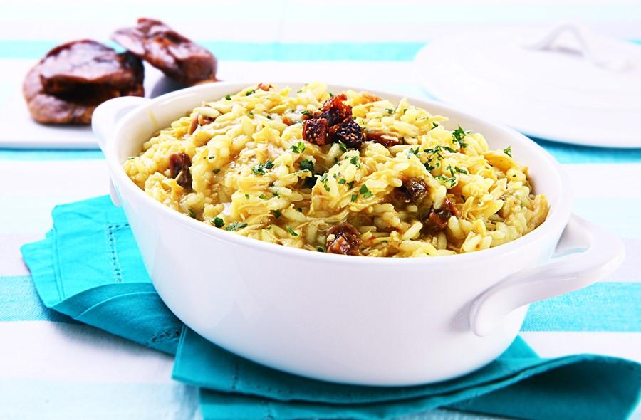 Receita: Risoto ao Curry com Figo em Passa 🍲