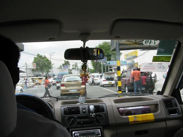 Taxifahrt in Manila