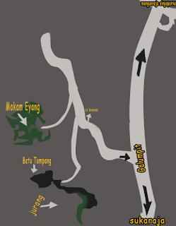 peta makam eyang nangana leuweung eyang